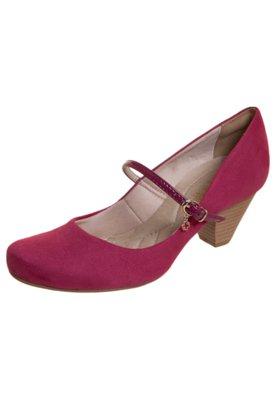 Sapato Scarpin Bebecê Salto Médio Mary Jane Rosa