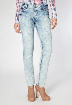 Calça Jeans TNG Skinny Alvejada SPikes Azul
