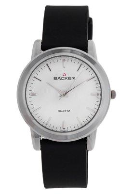 Relógio 430212M Preto/Prata - Backer