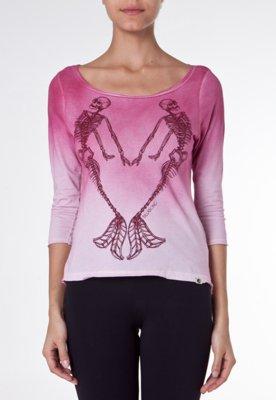Blusa Billabong Esqueletos Rosa