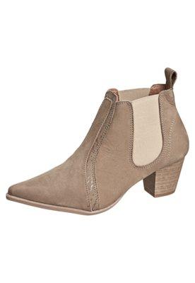 Ankle Boot FiveBlu Elástico Bege