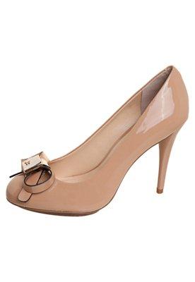 Sapato Scarpin Laço Verniz Bege - Jorge Bischoff