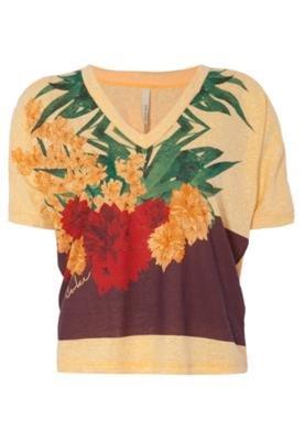 Blusa Small Flowers Amarela - Coca Cola Clothing