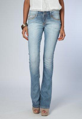 Calça Jeans Flare Ellus Strokes Elastic Azul