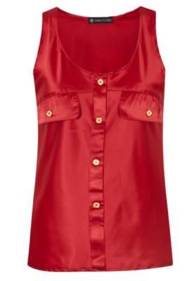 Blusa Lapelas Vermelha - Anna Flynn
