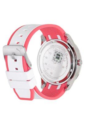 Relógio Puma Tube Multifunction Rosa/Branco