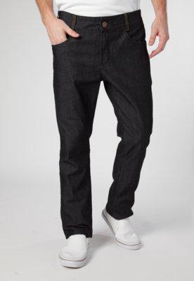 Calça Jeans Reta Low Preta - Osmoze
