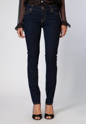 Calça Jeans 7 for all Mankind Skinny Rinsed Azul