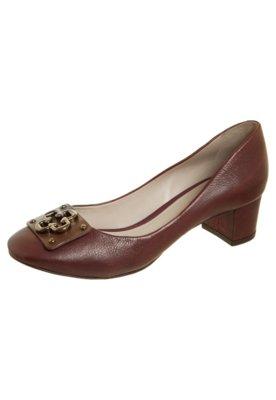 Sapato Scarpin Capodarte Salto Baixo Logo Vinho