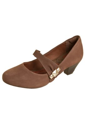 Sapato Scarpin Ramarim Total Comfort Salto Baixo Mary Jane M...