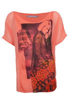 Blusa Espaço Fashion Girl Coral