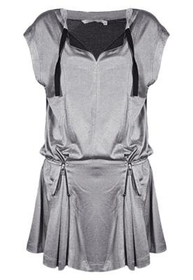 Vestido Espaço Fashion Ideal Cinza