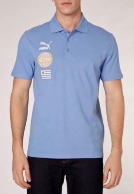 Camisa Polo Puma Football Uruguay Azul
