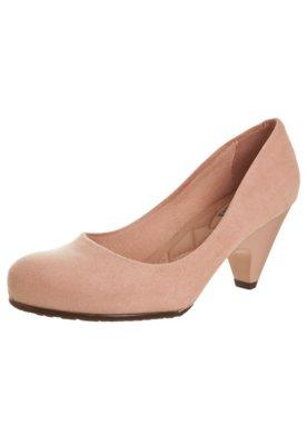 Sapato Scarpin Moleca Salto Médio Básico Rosa