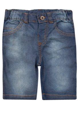 Bermuda Meu Primeiro Jeans Sorriso Azul - Meu 1º Jeans