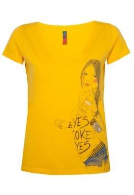 Blusa Coca-Cola Confort Unic Amarela - Coca Cola Clothing