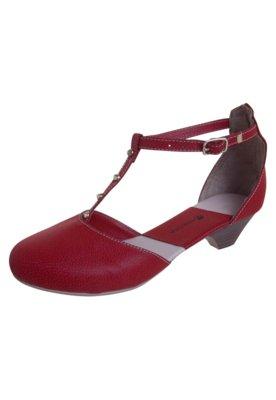 Sapato Scarpin Anna Flynn Salomé SPikes Vermelho