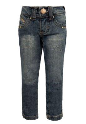 Calça Jeans Mania Kids Skinny Party Azul