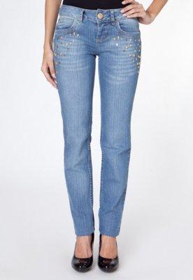 Calça Jeans Skinny Edna Caveira Azul - Colcci