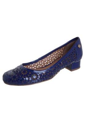 Sapato Scarpin Corso Como Saltinho Bloco Flores Vazadas Azul