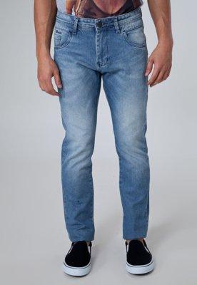 Calça Jeans FiveBlu Reta Stone Azul