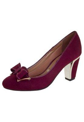Sapato Scarpin Vizzano Laço Vinho
