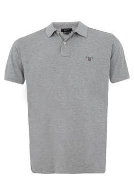 Camisa Polo Gant Solid Pique Cinza
