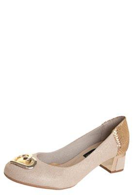 Sapato Scarpin Anna Flynn Modern Bege