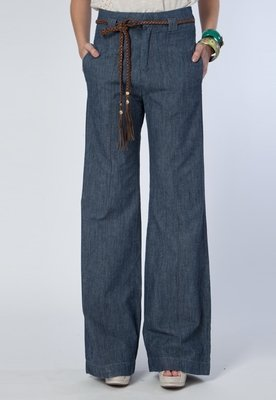 Calça Jeans Carmim California Pantalona Azul