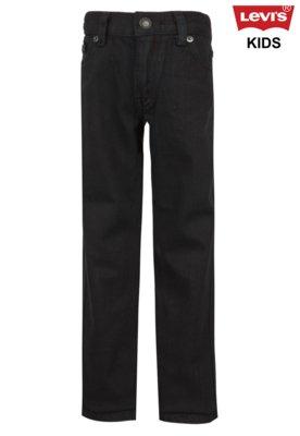 Calça Jeans Levis kids 511 Menino Skinny Preta