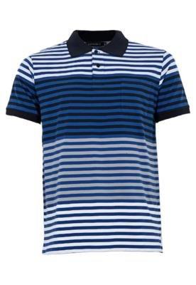 Camisa Polo FiveBlu Degradê Listra