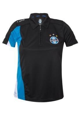 Camisa Pólo Dry Grêmio Feminina Preta - Licenciados Futebo...