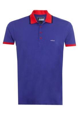 Camisa Polo Colcci Brasil Roxa