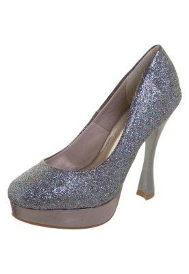 Sapato Scarpin NightStar Glitter Azul