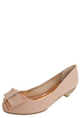 Sapato Scarpin Anna Flynn Laço Nude