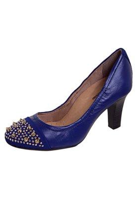 Sapato Scarpin Biqueira SPikes Azul - Bottero