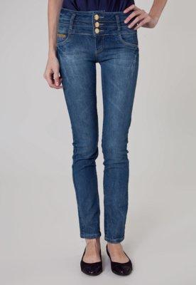 Calça Jeans Coca-Cola Clothing Push In Skinny Fio Azul - Co...