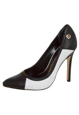 Sapato Scarpin Carmim Color Block Branco