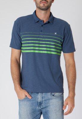 Camisa Polo Hurley Blender Azul