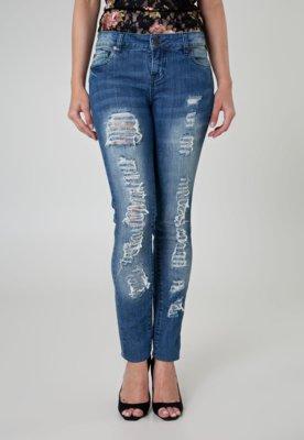 Calça Jeans 284 Skinny Puídos Azul
