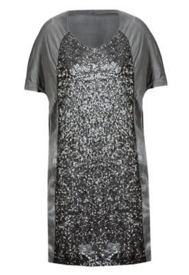 Vestido Curto Glam Cinza - Cantão