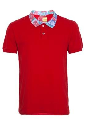 Camisa Polo Coca-Cola Brasil Stamp Vermelha - Coca Cola Clot...
