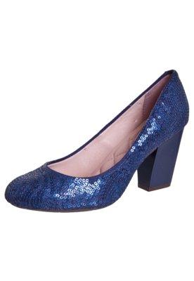 Sapato Scarpin Paetês Azul - Moleca