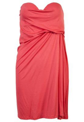 Vestido Curto Loose Draping  Coral - Coca Cola Clothing