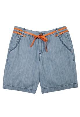 Bermuda Jeans Cinto Azul - Cantão