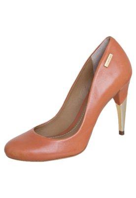 Sapato Scarpin Dumond Salto Alto Metalizado Caramelo