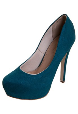 Sapato Scarpin FiveBlu Liso Verde