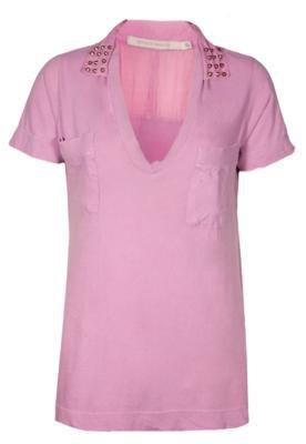 Blusa Espaço Fashion SPike Rosa