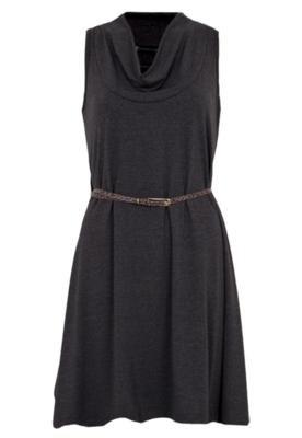 Vestido Anna Flynn Color Cinto Cinza