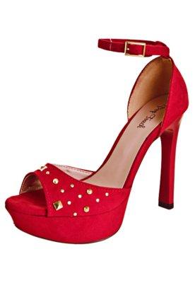 Sandália Tachas Vermelha - Pop Touch